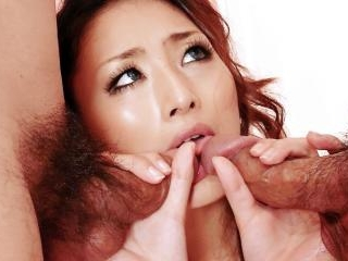 Risa loves having her furry muff slicked down with