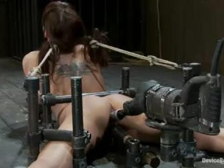 Machine fucked and Double Penetrated to multiple b