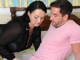 Cute chubby British housewife fucking with her lov