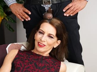 This naughty mature lady is ready for her black su