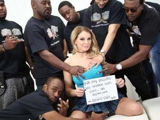 Interracial Blowbang.com - Kenzie Taylor