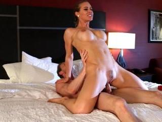 Nicole Aniston rides a cock and then takes a cream