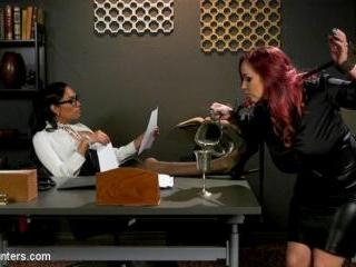 The Office Slave: Jessica Fox Fucks Bella Rossi in