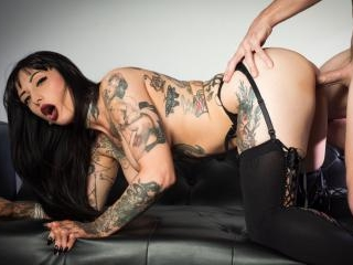 Passion And Luxury With Busty Tattooed Babe