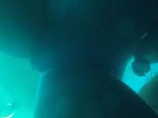 Underwater hidden camera lesbian fun with Alix & J