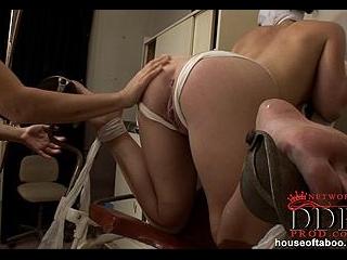 Nasty nurse gets spanky! [Part 2]