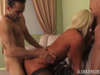 Alura Jenson Takes on Two Cocks Tommy Utah and Gia