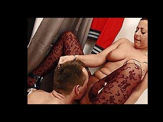 German MILF with natural tits pounded by a young r