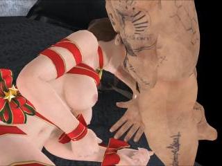 Christmas Pole Squeeze Present - Fabulous 3D henta