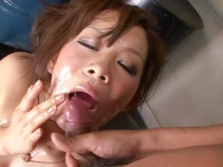 Kinky little Ren Mizumori is bound and gagged as h