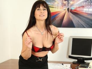 Naughty British housewife playing with her wet pus