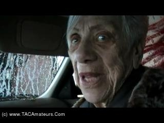 Granny Marg Cock Sucking At The Car Wash