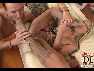 The footjob of her dreams
