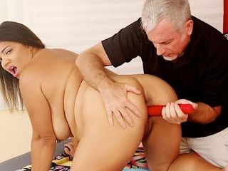 Fat Babe Gets Her Fleshy Body and Twat Massaged