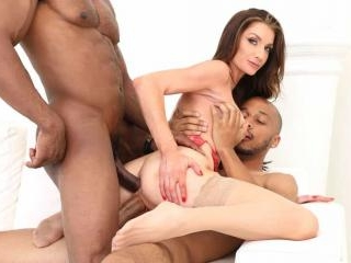 Male Strippers DP Rich MILF Silvia Saige with BBCs