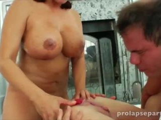 Ava Devine in a scene of extreme anal sex