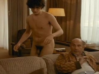 Louis makes with complete and total nudity as he g