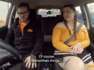 Cute BBW Crashes The Car For REAL