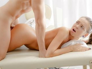 Sexy oral massage gets the girl dripping