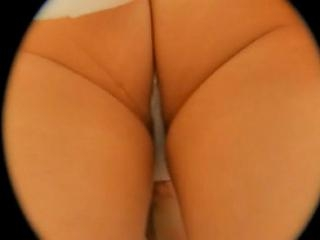 The close up of chicks juicy booty and tiny thong