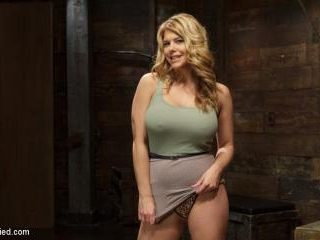 Huge Tit Blonde Bondage Slut Destroyed With Overwh