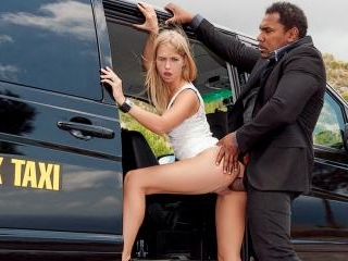 Violette Pink fucked in the Big Black Taxi
