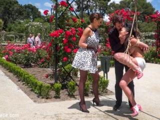 Rope Bondage Slut Loves to be Tied Up in Public