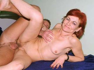 Hairy Mature Steph Takes a Cock