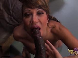 Ava Devine and Porno Dan Interracial POV