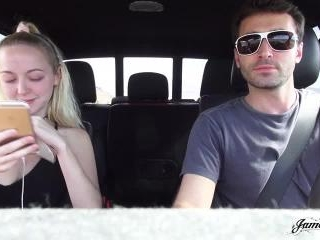 Iris Rose And James Deen Pull Over And Fuck Like R