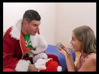 Pretty and Petite Tiffany Tatum Makes Santa\'s Day!
