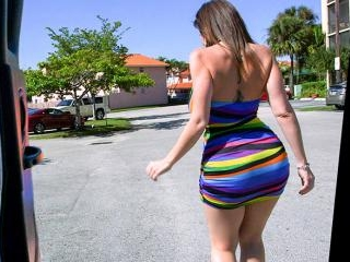 Sara Jay\'s Huge Ass Fucked On The BangBus In Miami