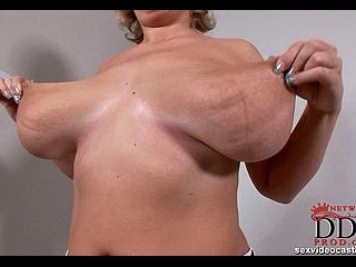 Busty newcomer shows all she has!