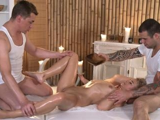 Four Handed Massage Or Two Dick Mass…