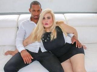 Big breasted mature slut sucking and fucking a har