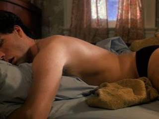 John wakes up and adjusts his junk in his briefs.