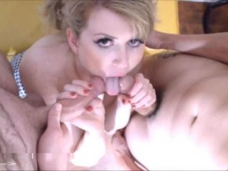 First Time Sucking Two Cocks - Part 2