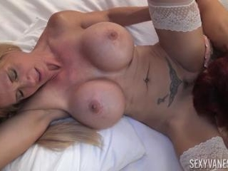 Sexy Vanessa Plays with Brooke Tyler\'s Huge Tits