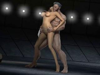 Men The Danger Room - Fabulous 3D hentai porn movi