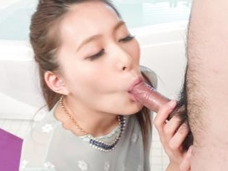 Sweet blowjob in sloppy manners with Aoi Mizuno