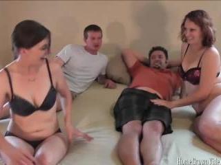 Two Amateur Couples Shoot A Group Porno