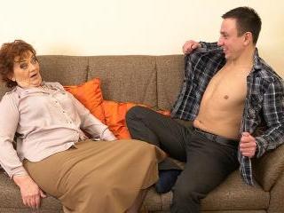 Horny Robbie loves fucking older mature ladies