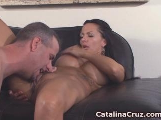 Catalina Cruz cumming in her mans mouth live on ca