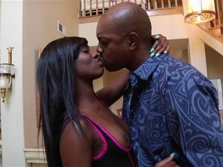 Reina Michaels bent over for anal in the kitchen