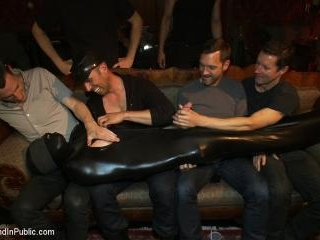 Big cock slave is publicly humiliated and caught i