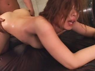 Busty Japanese woman tied up and pussy fucked