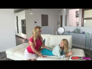 Zoey and her step mom  Cherie  take turns getting