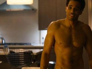 Michael answers the door in his undies. Sexy!