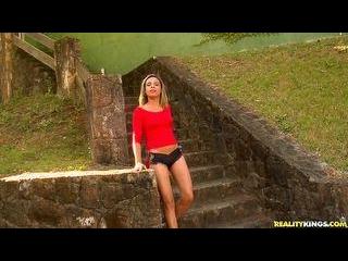Hot Brazilian takes a pounding in her pretty littl