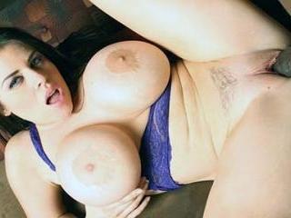 Pornstar Daphne Rosen Uses Her Huge Tits